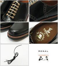 REGALGLADHANDリーガルグラッドハンドメンズレザーサドルシューズブラック紳士靴【2018年秋冬新作】