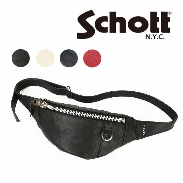 男女兼用バッグ, ボディバッグ・ウエストポーチ  Schott BODY BAG SMALL 3189028