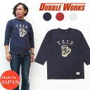 ダブルワークス DUBBLE WORKS ヘビーウェイト 7分袖 フットボール Tシャツ クルーネック T.G.I.F. WW57001 【2019年 春夏 新作】