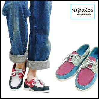 Sapatos zapatos マルチカラーヌバックデッキ shoes Portugal party