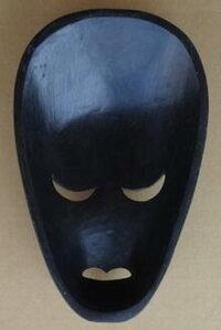 木彫りマスク〜ロンボクペイント〜☆25cm/その1☆】〈アジアンエスニックトラディショナルアンティーク調〉