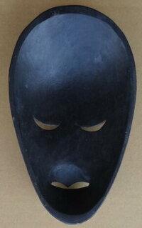 木彫りマスク〜ロンボクペイント〜☆25cm/その3☆】〈アジアンエスニックトラディショナルアンティーク調〉