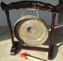 ベトナムゴング《銅鑼》☆スタンド付き30cm径