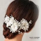 結婚式・ウェディング・ドレス・パーティー・発表会・演奏会・にぴったりなフラワーデザインヘッドドレス髪飾り