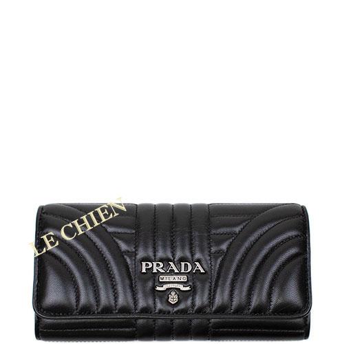 【新品】プラダ 二つ折り長財布 1MH132 ブラック