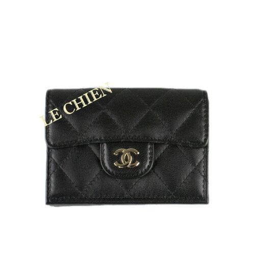 f4e9c7e3465e ... 長財布 | 完品 | 新品 | ラッピング包装可能 | エルメス | ツイリー | ガーデンパーティ | シャネル 3つ折り財布 A84401  ブラック | /ゴールド金具 ラムスキン