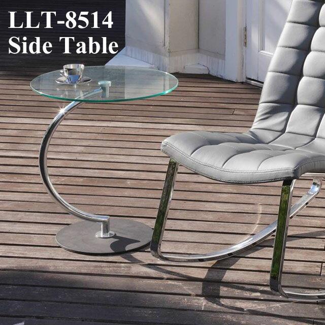 ガラス サイドテーブル 丸テーブル カフェテーブル sofa サイドテーブル クリアガラス デザインテーブル スタイリッシュ おしゃれ★Brass side Table LLT-8514【02P03Dec16】