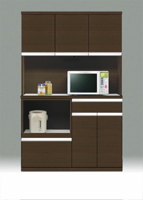 キッチンボード 120 日本製 ワイドタイプ 食器棚 ★ポイント120キッチンボード(ブラウン) 新生活【02P03Dec16】:Easyファニチャー