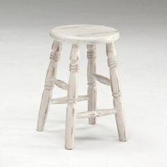木製 アンティーク ロースツール いす 椅子 イス 簡易チェア キッチンチェア 丸 完成品 インテ...