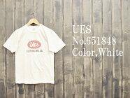 'UES'ロゴプリントTシャツUESウエスEASYNAVY651848