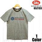 ウエス'ICECREAM'プリントリングTシャツUESEASYNAVY652133半袖国産日本製メンズアメカジあす楽送料無料
