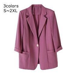 スーツジャケット レディース 秋 スーツ ジャケット 大きいサイズ シフォン テーラードジャケット フォーマル ビジネス ミドル丈