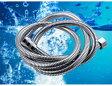 【送料無料】超軽量 超柔軟 防菌防カビ 節水タイプ ステンレス シャワーホース 1.5m パッキン付き メタル ラセン 05P03Dec16