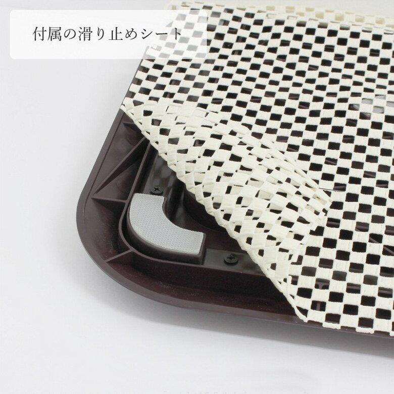 日本育児 おくだけとおせんぼ Mサイズ 滑り止めマット付き プレート幅60cm 柵対応ゲート 犬 猫 柵 ゲート