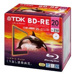 【在庫あり】【17時までのご注文完了で当日出荷可能!】TDK BEV25PWA20A 録画用BD-RE 2倍速 20枚