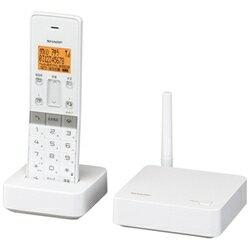 シャープJD-SF1CLW(ホワイト)_デジタルコードレス留守番電話機_子機1台