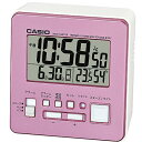 CASIO DQD-805J-4JF(パールピンク) 電波目覚まし時計 温湿度計付き