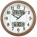 CASIO ITM-900FLJ-5JF(濃茶木調) 電波掛け時計...