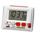 リズム時計 8RZ126RH03(白) スヌーピーR126 電波目覚まし時計