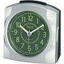リズム時計 4SE436DN19(シルバーメタリック色/緑) ピカチョDN 目覚まし時計