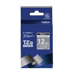 ブラザー TZe-MQL35 ピータッチ おしゃれテープ 白文字/ライトグレー(つや消し) 12mm