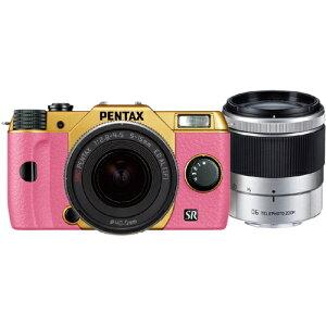 【送料無料】PENTAX PENTAX Q10 ダブルズームキット 067 (ゴールド/ピンク)