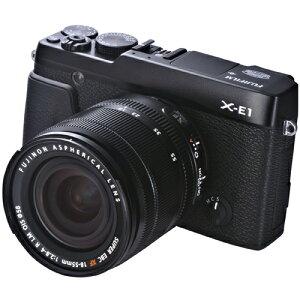 【送料無料】FUJIFILM X-E1 XF18-55 SET B(ブラック) レンズキット 【after1207】【SW1212_40KPT】