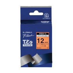 ブラザー TZe-B31 ピータッチ 蛍光カラーテープ 黒文字/蛍光オレンジ 12mm画像