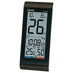 セイコー SQ431B 温湿度計付き 電波置時計 置き掛け兼用 デジタル SQ431Bポータブル 熱中症対策 アウトドア 外出 気温 湿度 散歩 日焼け 太陽