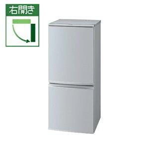 【長期保証付】シャープ SJ-D14A-S(シルバー) 2ドア冷蔵庫 右開き/付替 137L つけかえどっちもドア