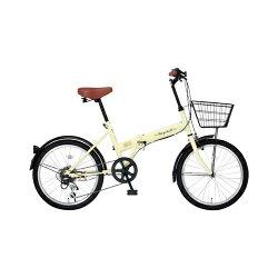 レイチェルFB-206R_20インチ_6段変速_折畳自転車_アイボリー