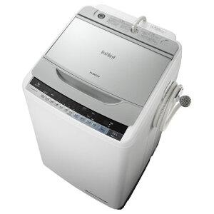【設置+リサイクル+長期保証】日立 BW-9WV-S(シルバー) ビートウォッシュ 全自動洗濯…