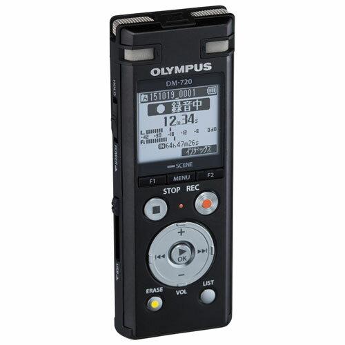 オリンパス DM-720-BLK(ブラック) Voice-Trek ICレコーダー 4GB 【送料無料】【在庫あり】16時までの注文で当日出荷可能!