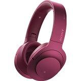 ソニー MDR-100ABN-P(ボルドーピンク) h.ear on Wireless NC Bluetoothヘッドホン