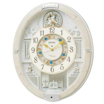 SEIKO RE576A(アイボリーマーブル模様) 電波掛け時計