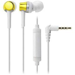 オーディオテクニカ ATH-CKR30iS YL(イエロー) Sound Reality スマートフォン用インナーイヤーヘッドホン