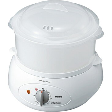 ツインバード工業 SP-4137W(ホワイト) フードスチーマー SP4137 蒸し器 ヘルシー ダイエット キッチン レシピ 栄養 お手入れ 簡単 コンパクト 収納 健康 ノンオイル タイマー 家事 料理 時短 低カロ