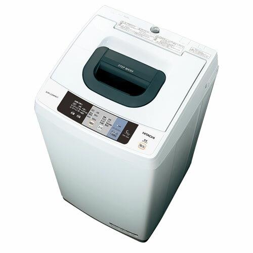 【設置+長期保証】日立 NW-50A W(ピュアホワイト) 全自動洗濯機 上開き 洗濯5kg:イーベストPC・家電館