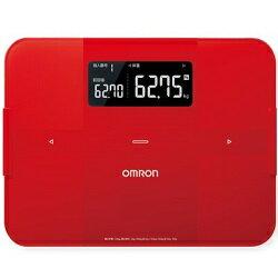 オムロン OMRON カラダスキャン 体組成計 体重計 HBF255T-R レッド 専用アプリでデータ管理/Bluetooth/フラット/ガラス天板