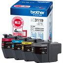 ブラザー インクカートリッジ 4色パック大容量 LC3119-4PK 1箱(4個:各色1個)