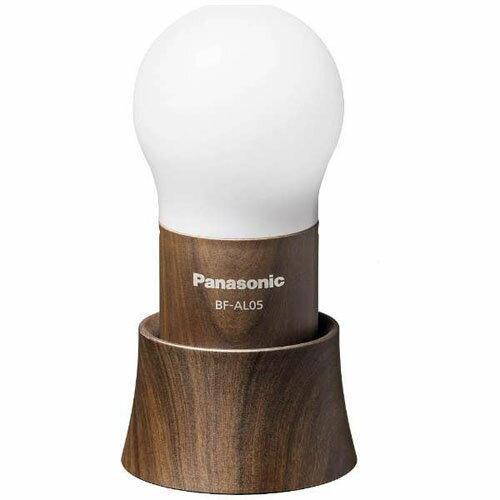 パナソニック BF-AL05(木目調) 乾電池エボルタ付き LEDランタン(球ランタン) 30lm