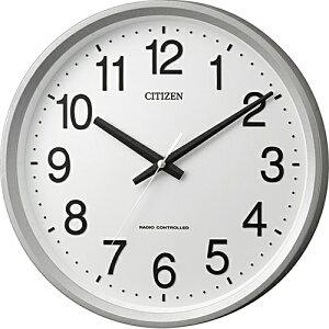 シチズン 4MYA24-019(シルバーメタリック色) サークルポート 電波掛け時計