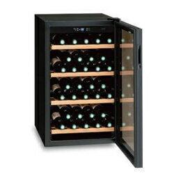 【設置+リサイクル】三ツ星貿易 MB-6110C(ブラック) ワインクーラー 右開き 32本収納:イーベストPC・家電館