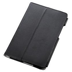 エレコム TBA-KYH08PLFBK(ブラック) Qua tab QZ8用ソフトレザーカバー