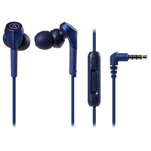 オーディオテクニカATH-CKS550XiSBL(ブルー)SOLIDBASSスマートフォン用インナーイヤーヘッドホンハイレゾ対応