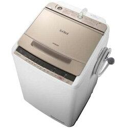 日立BW-V80C-N(シャンパン)_ビートウォッシュ_全自動洗濯機_上開き_洗濯8kg