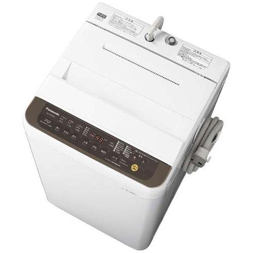 【設置+リサイクル+長期保証】パナソニック NA-F70PB12-T(ブラウン) 全自動洗濯機 上開き 洗濯7kg