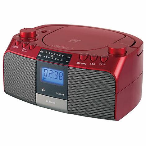コイズミSAD-4705R(レッド)CDラジオワイドFM対応