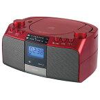 コイズミ SAD-4705 R(レッド) CDラジオ ワイドFM対応