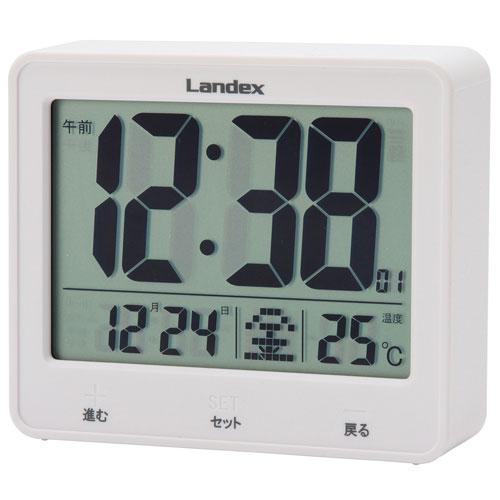 e62afe5693 芳国産業 YT5253WH(白) 電波目覚まし時計 タッチライトマスター